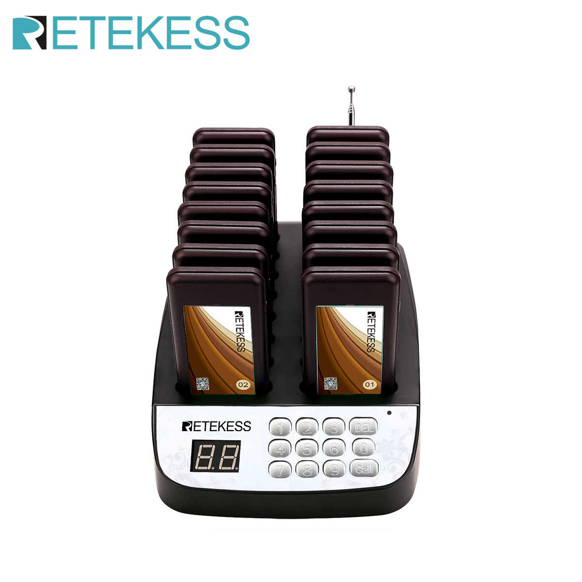 Retekess T113 Waterproof Restaurant pager Vibrator queuing system restaurant guest pagers for restaurant church fast food shop