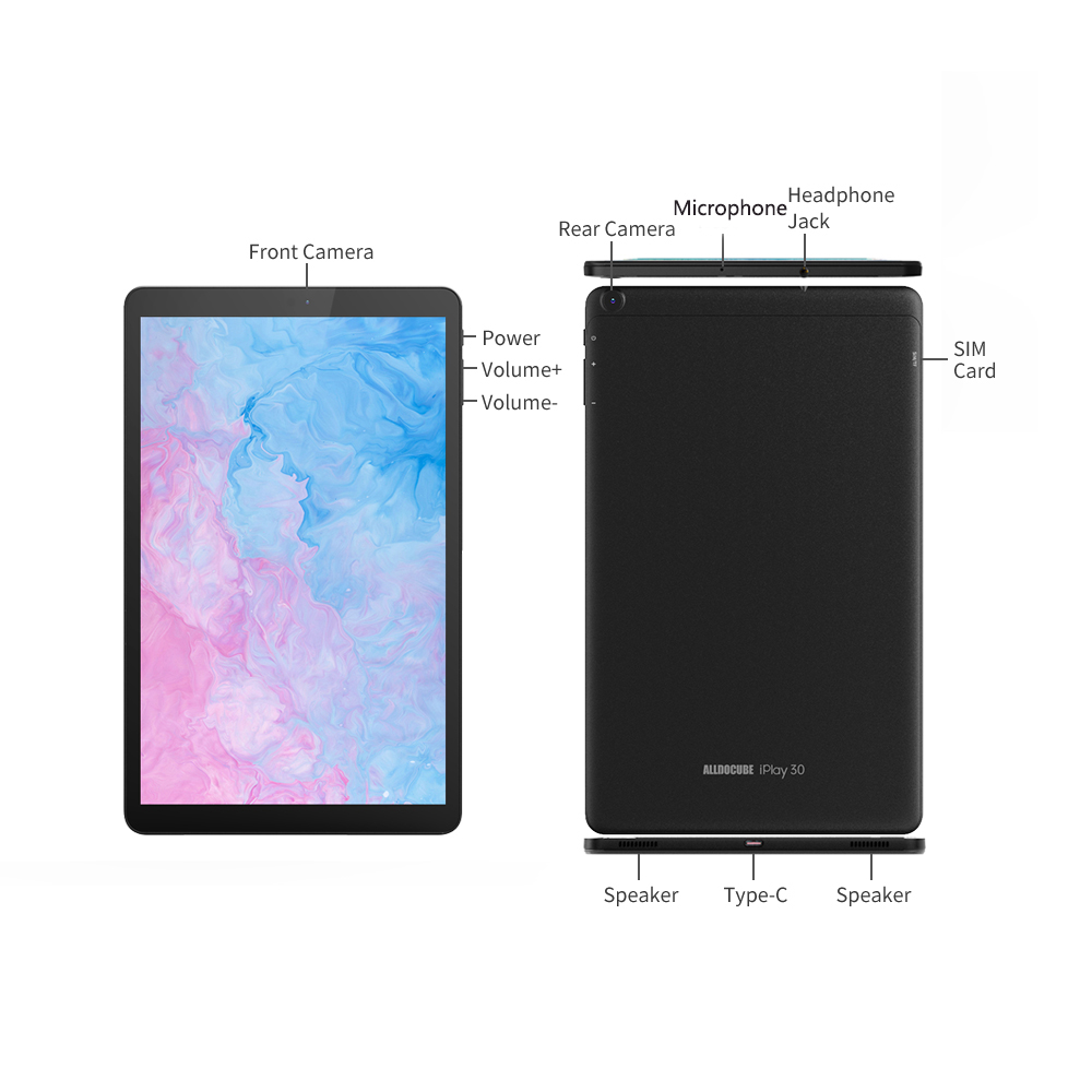 ALLDOCUBE  iPlay30 pro 10.5 inch Android 10 Tablet 6GB RAM 128GB ROM Helio P60 4G LTE Tablets PC 1920*1200 IPS 7000mAh TYPE-C 5