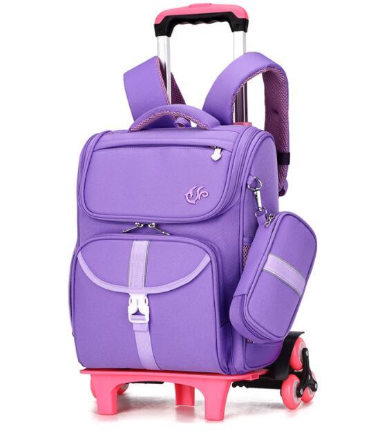 Japan Style Backpack On Wheels School Rolling Backpack For Girls Wheeled Backpack For School Kids School Trolley Bags Orthopedic