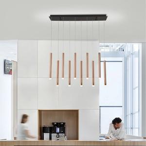 Image 2 - Modern LED Pendant Lights 30W 40W Black/Rose Gold Hanging Lamp For Living Dining Room Bar Home Deco Creative Pendant Lighting
