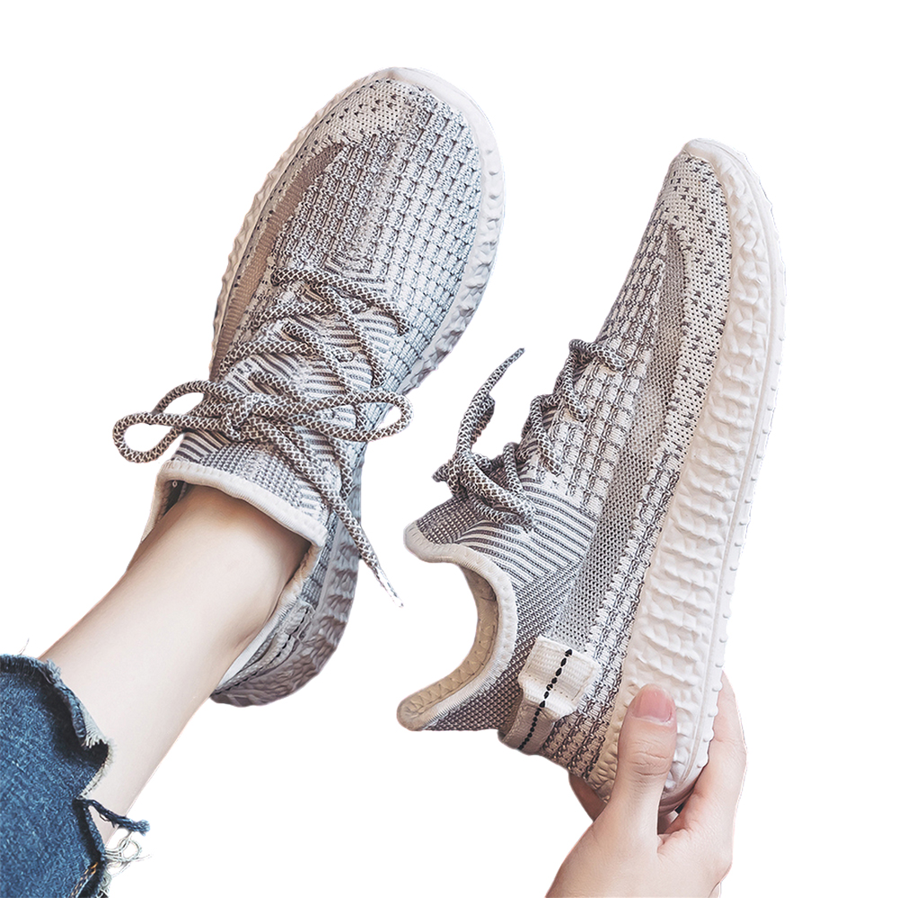Sneakers Rrunning Shoes 2020 New Breathable Sports  Trend Mesh Net Shoes Summer Canvas Men's Shoes Wild Casual Deodorant Lace Up