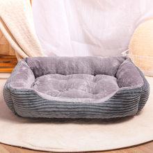 Prostokąt łóżko dla psa śpiwór hodowla kot Puppy Sofa łóżko dom dla zwierząt zimowe ciepłe łóżka poduszka dla małych psów legowisko dla kota