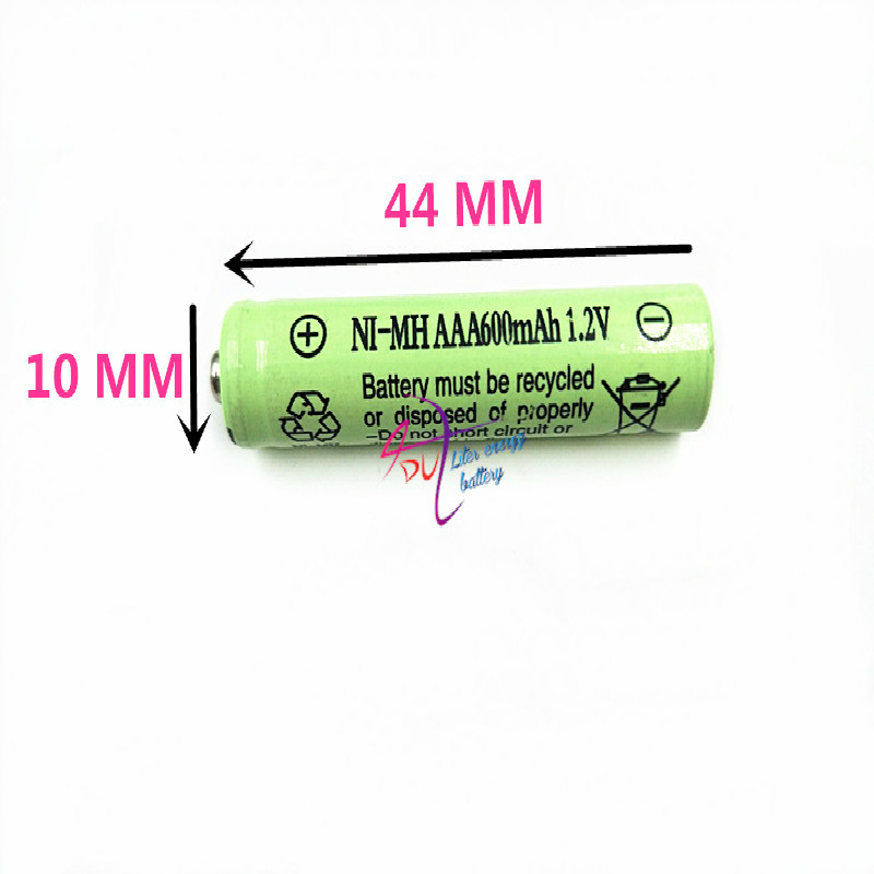 4-20PCS 10450 1.2V 600MAH Rechargeable Battery 600mAh Real Capacity NiMh AAA Batteries Set with 1000 Cycle for LED Flashlight image