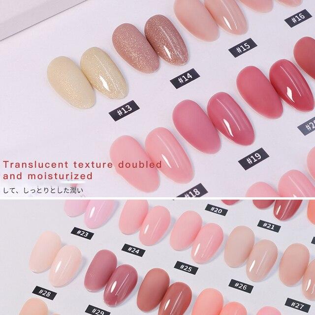 Tender Pink Cherry Blossom Jade Removable Nail Polish Gel Nail Jelly Powder Nail Supplies Jelly Glue Nail Supplies TSLM1 5
