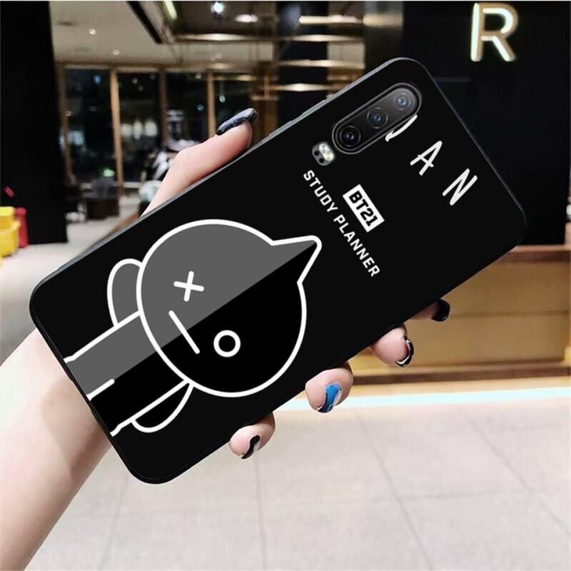BT21 Figure Jelly Black TPU Soft Phone Case Cover For Huawei P40 P30 P20 Lite Pro Mate 20 Pro P Smart 2019 Prime