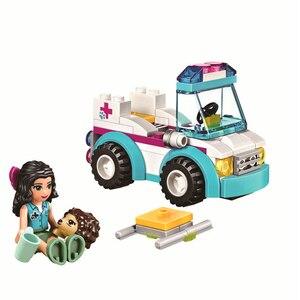 Image 2 - 10542女友達シリーズ休暇水泳プールフィギュアブロック建設レンガのおもちゃ