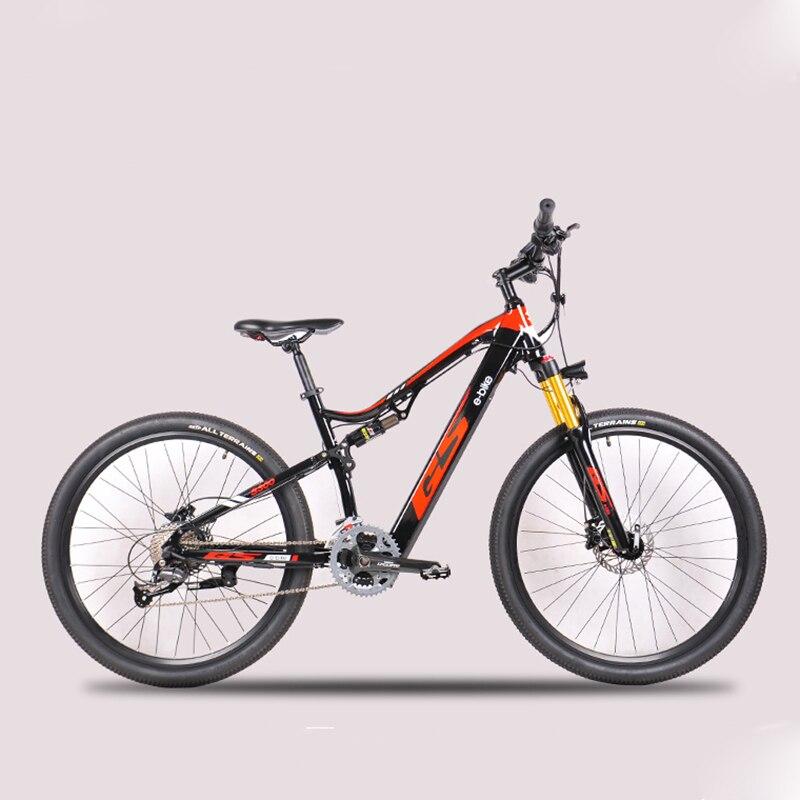 27.5 polegadas elétrica-alimentado macio-cauda mountain bike frente e traseira amortecedores duplos 48v bateria de lítio escondida ebike