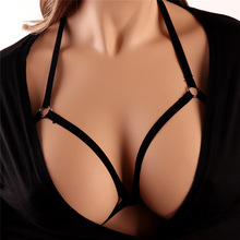 Sexy Black Body Harness Bondage Breast Sex Toy For Womern Erotic Lingerie  Belts Elastic Strappy Tops Caged Bras
