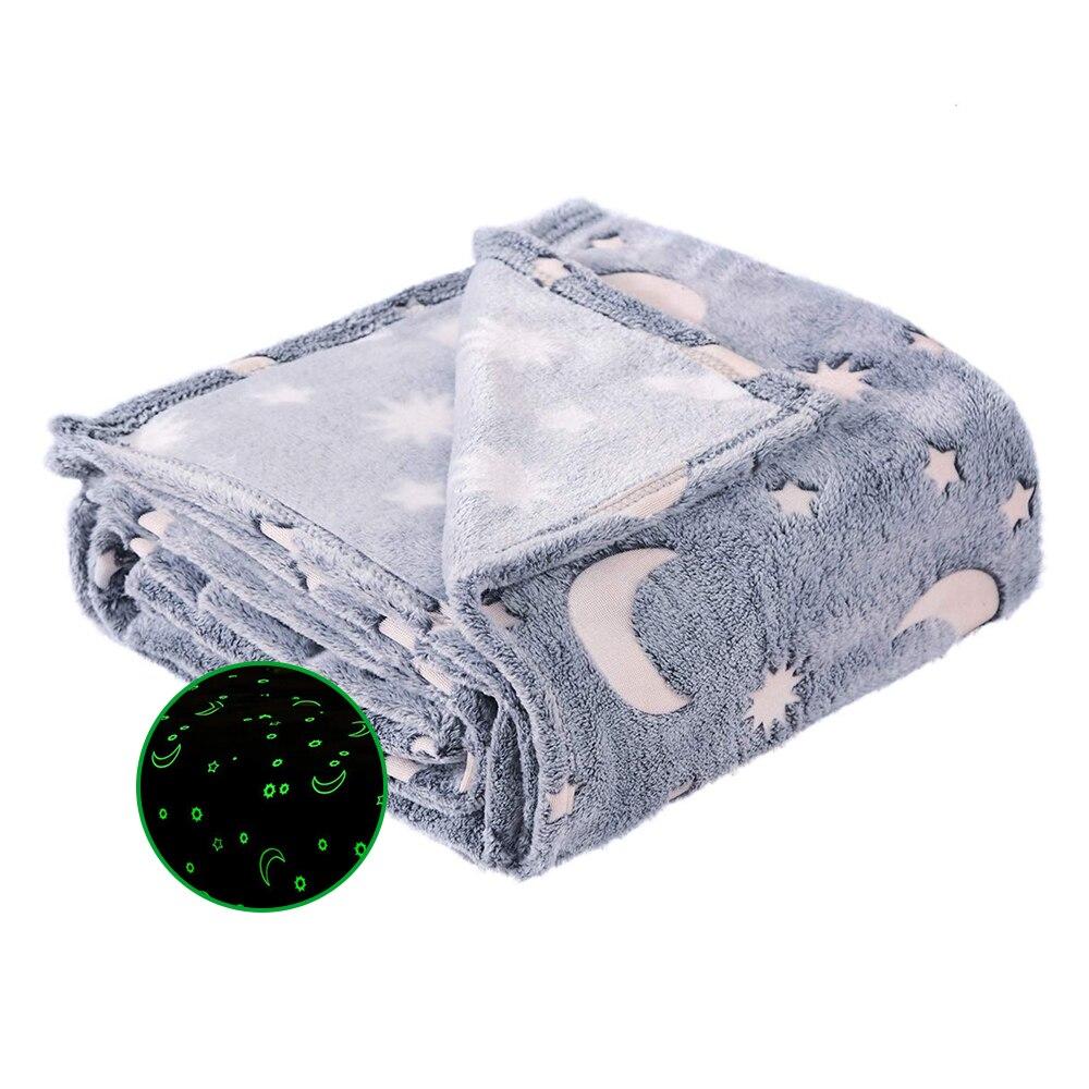 Одеяло с изображением звезды и Луны, шерстяное одеяло, диванное одеяло для дивана, пододеяльник для путешествий, постельные принадлежности, удобное, прочное, бархатное, плюшевое, Флисовое одеяло