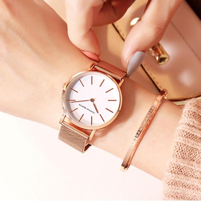 Bracelet & Rose Gold Watch Set 5