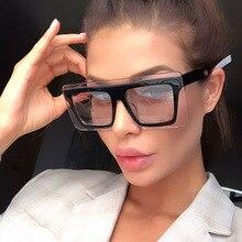 Vintage Designer Oversized Square Sunglasses Women Luxury Br