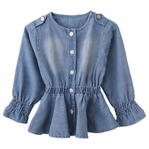 Image 5 - Baby Blouse Spring Fall 2020 Children Jeans Coat Big Girls Clothes School Shirts for Girls Button Down Tops and Blouses 6 8 12Y