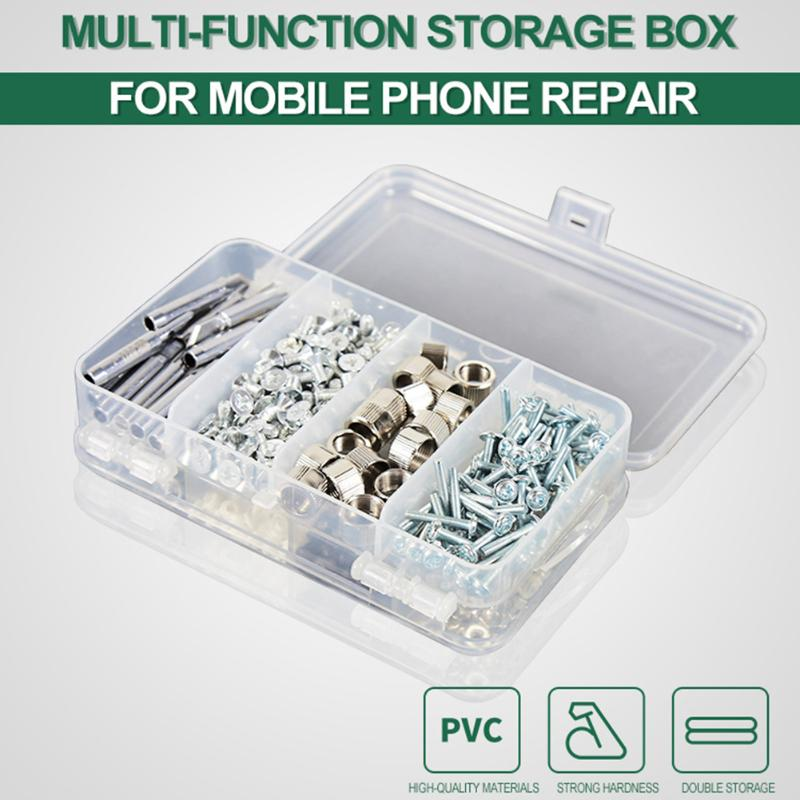 Multi-function 6 Grids Storage Box Mobile Phone Accessories Screw Container