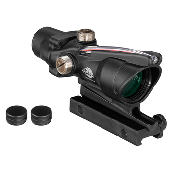 Fire Wolf Acog 4X32 Tactical RifleScope Real Fiber Green Red Dot Illuminated Etched Reticle Optical sight Crossbow for hunting 6