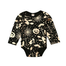 New Lovely Baby Boy Girl First Halloween Gold Pumpkin Romper Outfit Set(China)