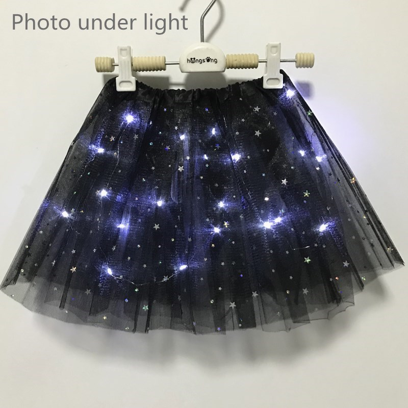 Hot Girls Kids 28cm Tutu Star Skirt Princess Party Ballet Dance 3 Layers Lime
