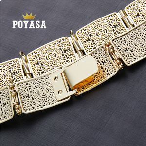 Image 5 - free shippping Moroccan Sun Flower Caftan wedding gold and silver Metal belt for women