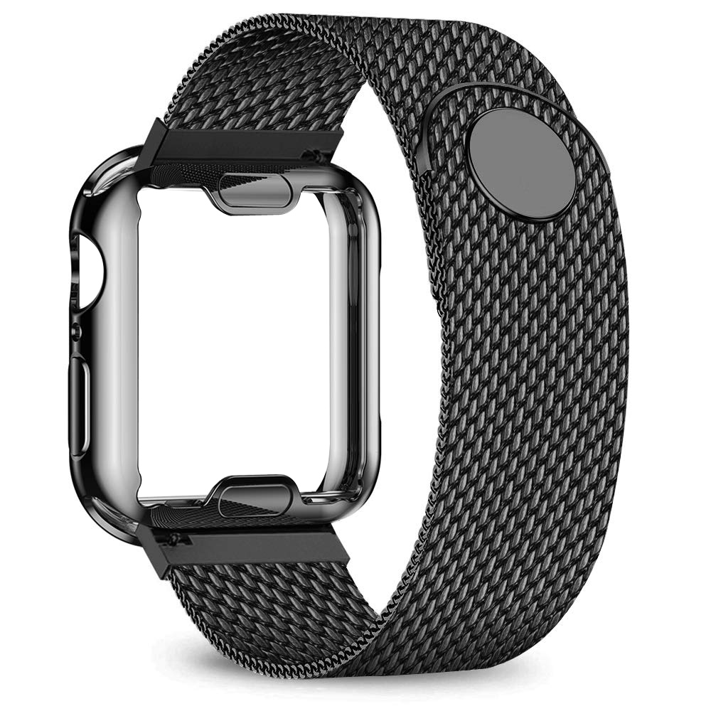 Strap for Apple Watch band 38mm 42mm 40mm 44mm Plated case+Metal belt stainless steel bracelet iWatch series 5 4 3 38/42/40/44mm|Watchbands| - AliExpress
