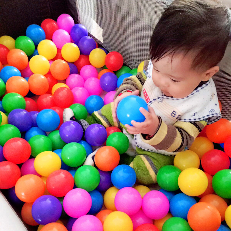 Ocean Ball Colorful Ball 7 Oceans Thick Ball Pools Baby Colorful Ball Pool Color Children Toy Ball