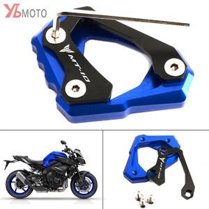 Image 1 - Moto Accessori Cavalletto Piede Laterale Del Basamento di Estensione Pad Piastra di Supporto Per Yamaha MT 10 MT 10 MT10 FZ 10 2016 2020 2019