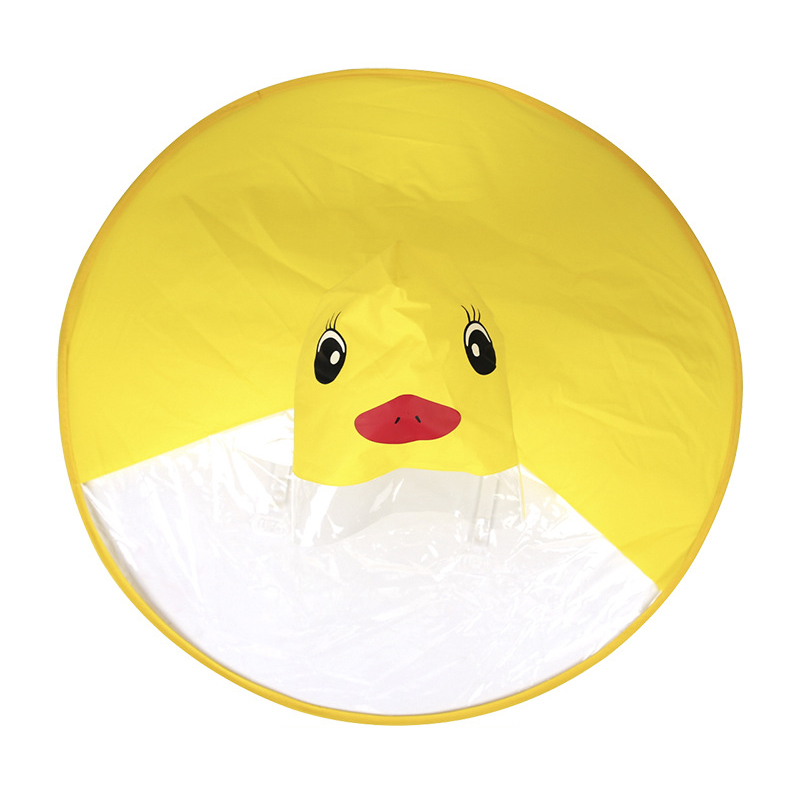Ufo Children'S Raincoat Cute Yellow Duck Rain Cover Waterproof Children'S Umbrella Cover Girl Boy Poncho Coat S