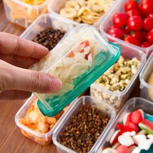 Image 5 - 17 teile/satz Küche Mikrowelle Kühlschrank Dichtung Lebensmittel Lagerung Box Container Klaren Kunststoff Behälter Lagerung
