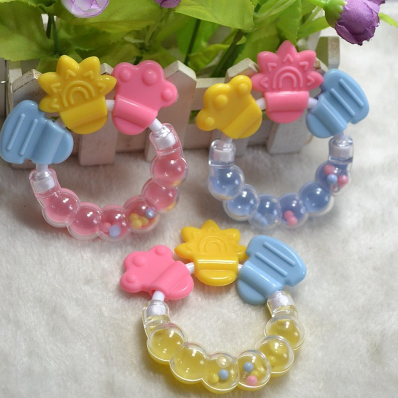 Sonajeros para bebés mordedor de dibujos animados mordedor para bebés juguetes educativos para móviles mordedor de dientes sonajero de bebé juguete cama campana de silicona