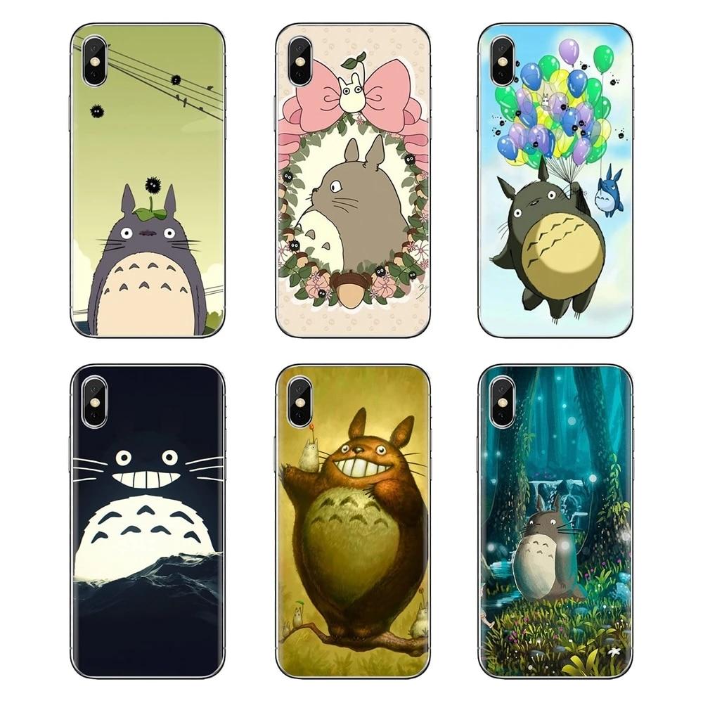 Housses souples pour Samsung Galaxy S2 S3 S4 S5 MINI S6 S7 edge S8 S9 Plus Note 2 3 4 5 8 Coque Fundas mon voisin Totoro et ses amis