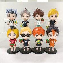 8pcs/lot Anime Haikyuu Figure Kozume Kenma Hinata Shoyo Action Figure Kotaru Bokuto Yu Nishinoya Kei Tsukishima Figurine Toys
