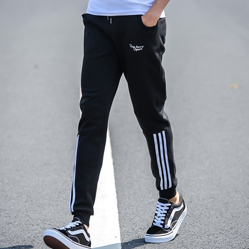 Versatile Students Summer Closing Skinny Athletic Pants Men's Teenager Harem Pants Loose Casual Beam Leg Trousers Men