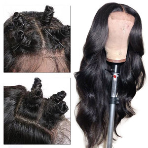 Image 4 - Alibele 13x4/4x4 Brazilian Body Wave Wig 150% Pre Plucked Lace Front Wig 4x4 Lace Closure Wig Body Wave Human Hair Wig For Women
