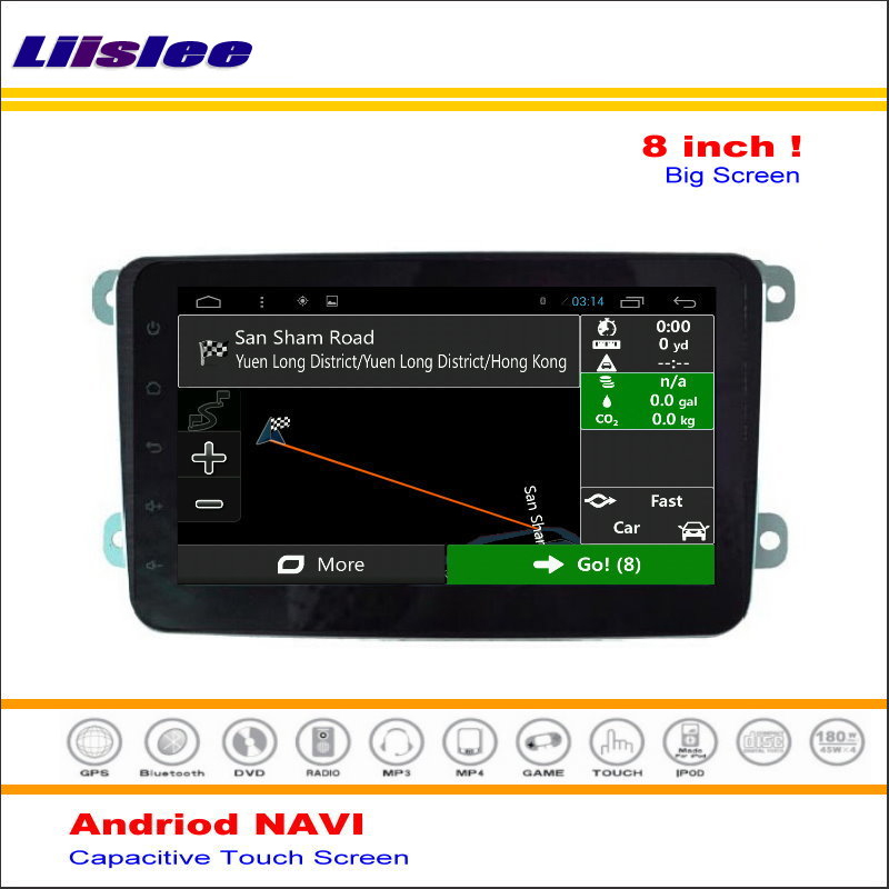 Liislee Car Android Media Navigation System For Volkswagen <font><b>VW</b></font> <font><b>Touran</b></font> 2003~2011 <font><b>Radio</b></font> Stereo Audio Video Multimedia No DVD Player image