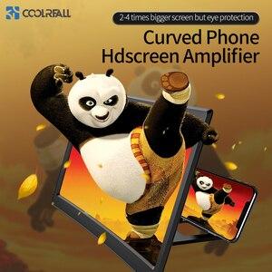 Image 1 - Coolreall שולחן 12 אינץ נייד טלפון HD מסך וידאו זכוכית מגדלת מתקפל מעוקל מוגדל סרט הגברה מקרן Stand סוגר