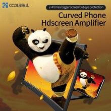 Coolreall mesa 12 Polegada telefone móvel hd tela de vídeo lupa dobrável curvo amplificação filme projetor suporte