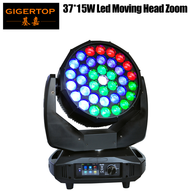 TIPTOP Stage Light 37x15W RGBW 4in1 K20 Big Bee Eye LED Moving Head Beam Wash 2IN1 Light B Eyes Spot Light Pixel Color Change