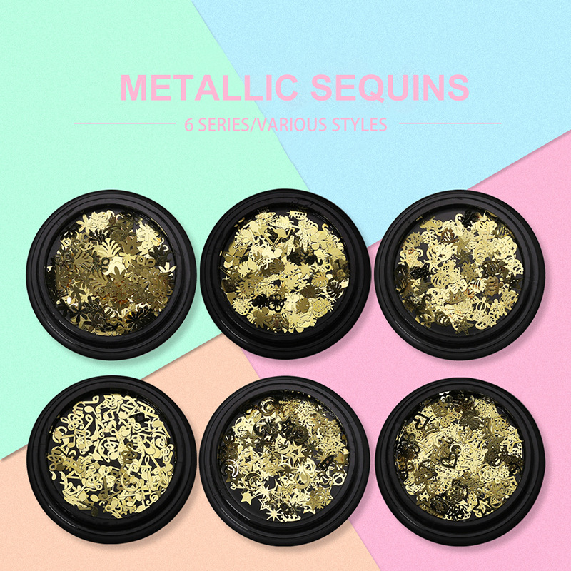 Metallic Mix Hollow Sequin Glitter Sprinkle Iridescent Embellishments Kawaii UV Resin Craft Supplies Jewelry Filling Accesorries