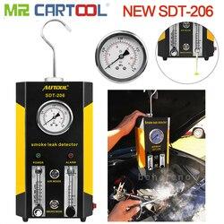 Autool new sdt206 자동차 용 연기 발생기 자동차 연기 기계 누출 탐지기 자동차 진단 누출 감지기 sdt 206