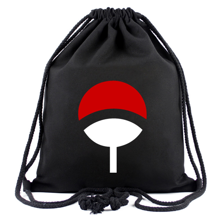 Anime Naruto Drawstring Backpack Printing Canvas Bags Student School Bag Neruto Cosplay Accessory Gift