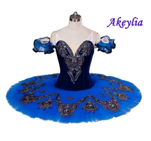 Child Blue Swan Lake Ballet Costumes Red Adult Ballerina Classical Pancake  Tutus Girls Professional Tutu