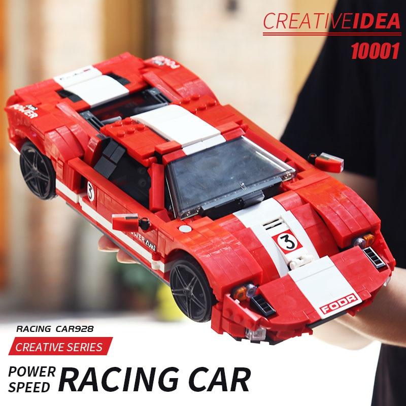 MOULD KING 10001 High-Tech Car Toys The MOC-20825 Red Phanton Mustang Car