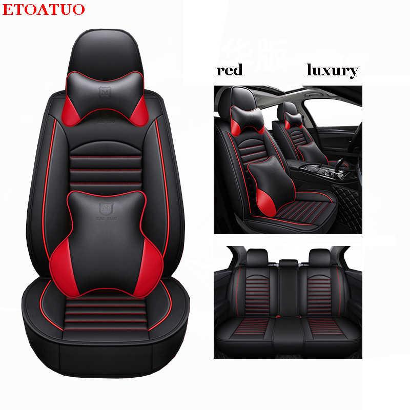 ETOATUO fundas universales de cuero para Volkswagen vw Skoda Toyota Subaru BMW Kia Nissan Volvo Mazda, etc. Todas las fundas para coche
