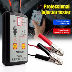 Professional Injector Tester 12V Fuel Injector 4 Pluse Modes Tester Powerful Fuel System Scan Tool Automotive EM276 Car Tester