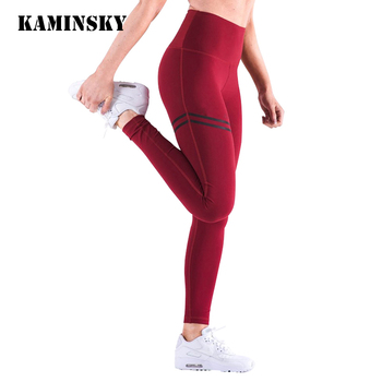 Kaminsky Women High Waist Leggins Women's Fashion Push Up Legging Polyester Activewear Bodybuilding Jeggings Fitness Leggings image