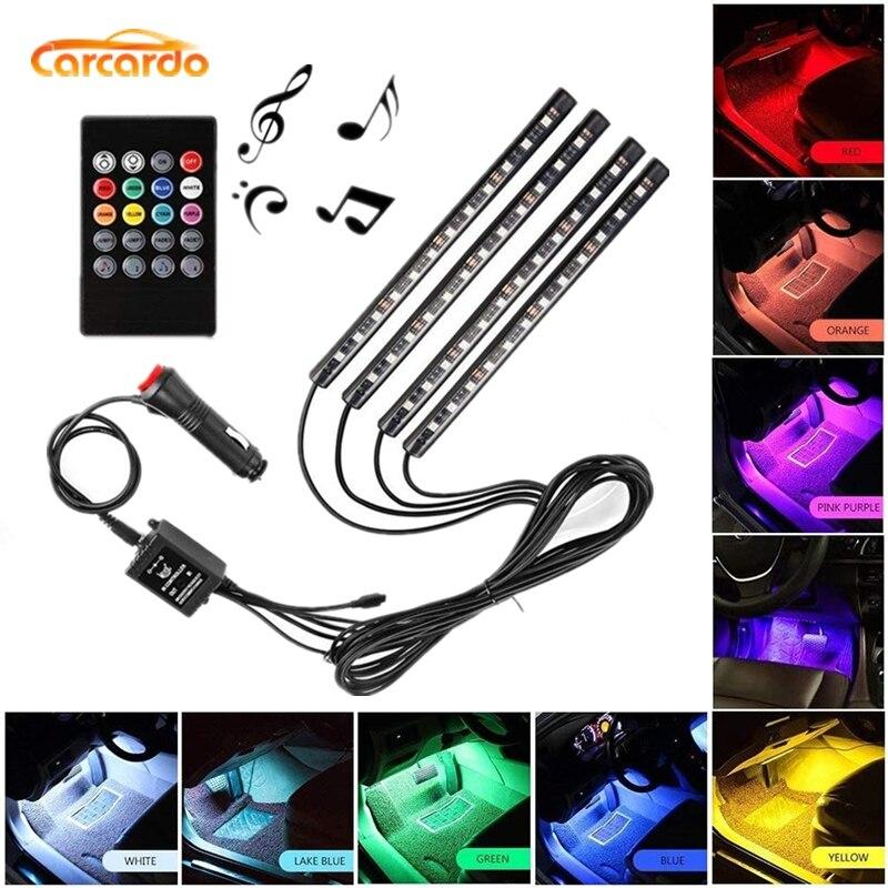Carcardo 1 Set Voice Music Control LED Atmosfer Neon İşıq lampası - Avtomobil işıqları - Fotoqrafiya 1