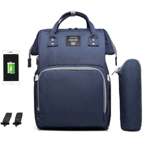 Image 3 - 大容量おむつバッグバックパック防水産科バッグベビーおむつバッグ USB インタフェースミイラのためのベビーカー