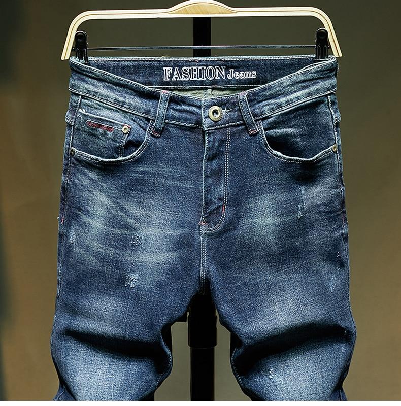 KSTUN Slim Fit Jeans Men Stretch Blue Fashion Mens Brand Jeans Casual Denim Pants Men's Clothing Male Long Trousers Wholesale 13