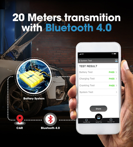 Image 4 - TOPDON جهاز اختبار بطارية السيارة مع Bluetooth ، جهاز اختبار بطارية السيارة ، بلوتوث ، 12 فولت ، لاسلكي ، مراقب بطارية 100 إلى 2000CCA ، شاحن تلقائي ، أداة تحليل كرنك
