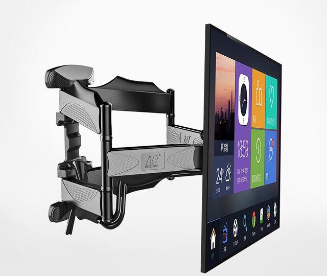 """2019 חדש NB P5 אוניברסלי מלא תנועה 32 """" 60"""" LCD טלוויזיה קיר הר סוגר 6 זרוע חזק 36.4kg 400X400 עם כבל כיסוי מסתובב pivot"""