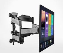 """2019 nouveau NB P5 mouvement universel complet 32 """" 60"""" LCD TV support de montage mural 6 bras fort 36.4kg 400X400 avec couvercle de câble pivot pivotant"""