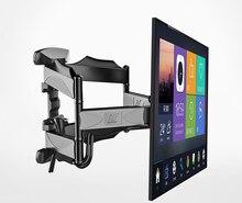 """2019 yeni NB P5 evrensel tam hareket 32 """" 60"""" LCD TV duvar montaj aparatı 6 kol güçlü 36.4kg 400X400 kablo ile kapak döner pivot"""